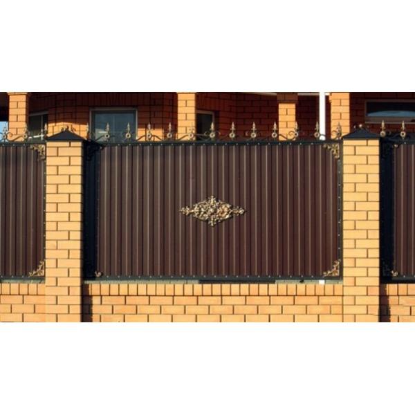 Ворота из профнастила с элементами ковки своими руками фото фото 715